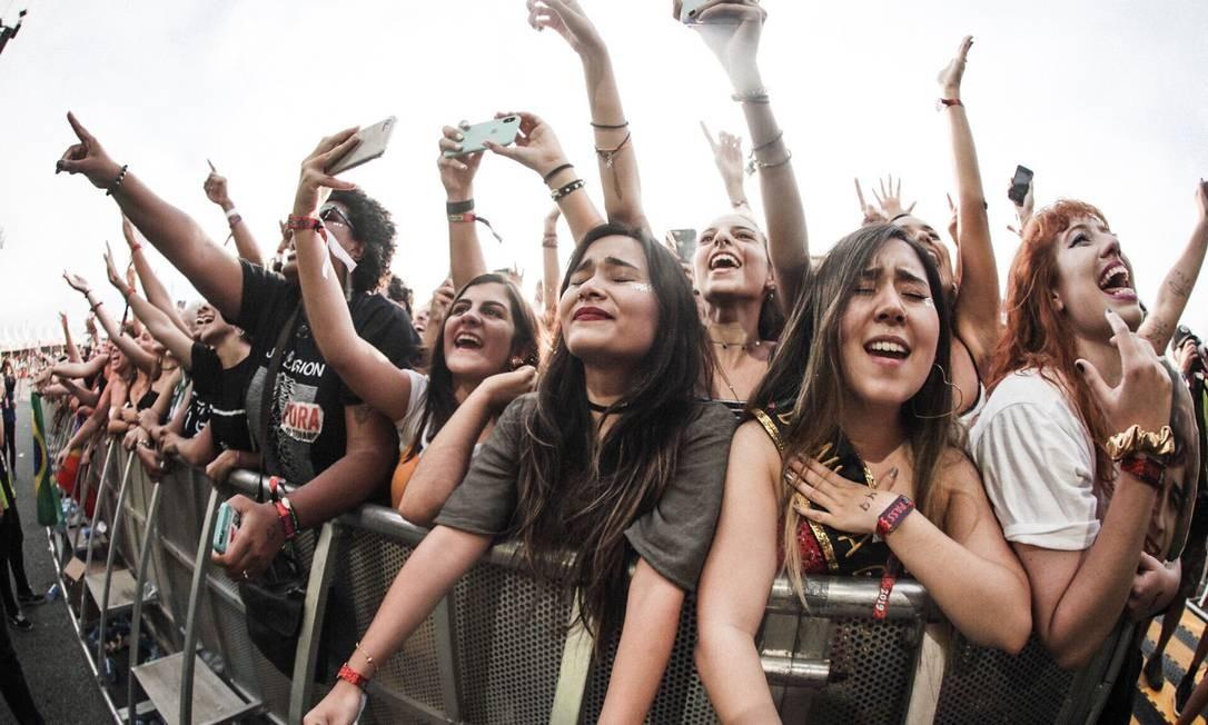 Lollapalooza 2019, em São Paulo Foto: Rodrigo Gianasi / Agência O Globo