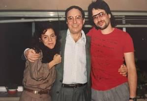 Bebel Gilberto, João Gilberto e João Marcelo Gilberto em Nova York, 1982 Foto: Arquivo pessoal de João Marcelo Gilberto