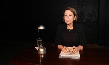 """Fernanda Montenegro na leitura da peça """"Nelson Rodrigues por ele mesmo"""" Foto: Divulgação"""