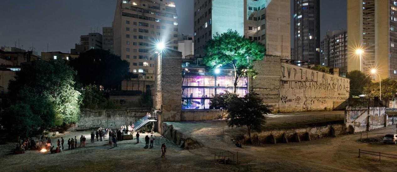 Terreno que abriga a sede do Teatro Oficina no bairro do Bixiga, em São Paulo Foto: Markus Lanz / Divulgação