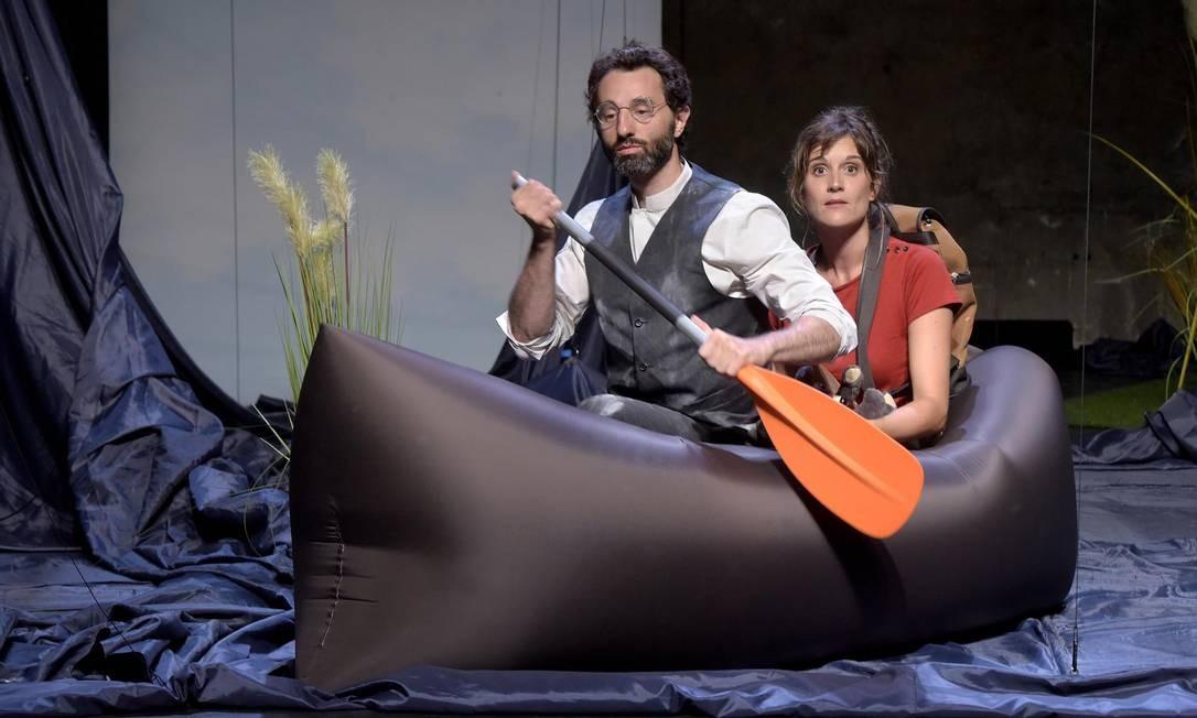 """A peça """"Tristeza e alegria na vida das girafas"""", dirigida pelo francês Thomas Quillardet, se apresenta nos dias 30 e 31/3 Foto: pascal gely / Divulgação"""