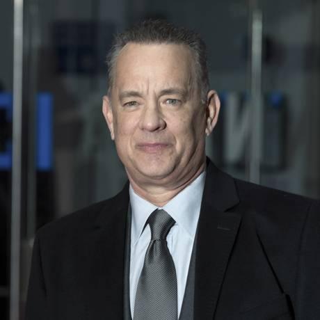Tom Hanks em janeiro de 2018, durante a sessão de estreia do filme