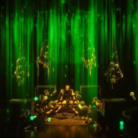 Cena da montagem de Pier Francesco Maestrini criada para a Ópera de Kiel Foto: Olaf Struck / Divulgação