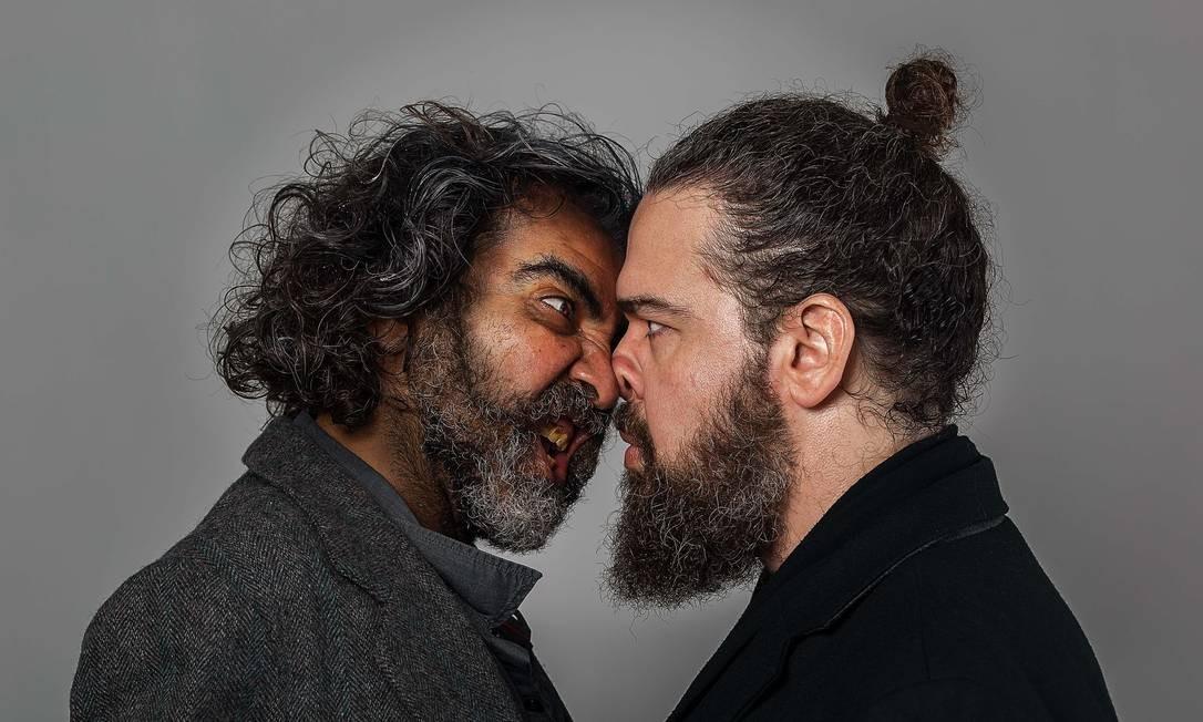 """Os atores Paulo Giannini e Kadu Garcia protagonizam a peça """"Procópio"""" Foto: Ricardo Borges / Divulgação"""