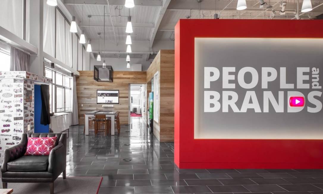 Este é o BrandLab, que abriga clientes do YouTube, marcas que estão trabalhando com grandes campanhas dentro da plataforma do YouTube Foto: Divulgação