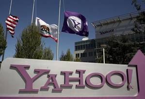 Logo do Yahoo na sede da empresa em Sunnyvale, Califórnia, em 16 de abril de 2013.jpg Foto: Robert Galbraith / Reuters