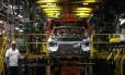Fábrica da GM em São Caetano (SP). Crise na argentina e economia em ritmo lento influenciaram queda do setor em março