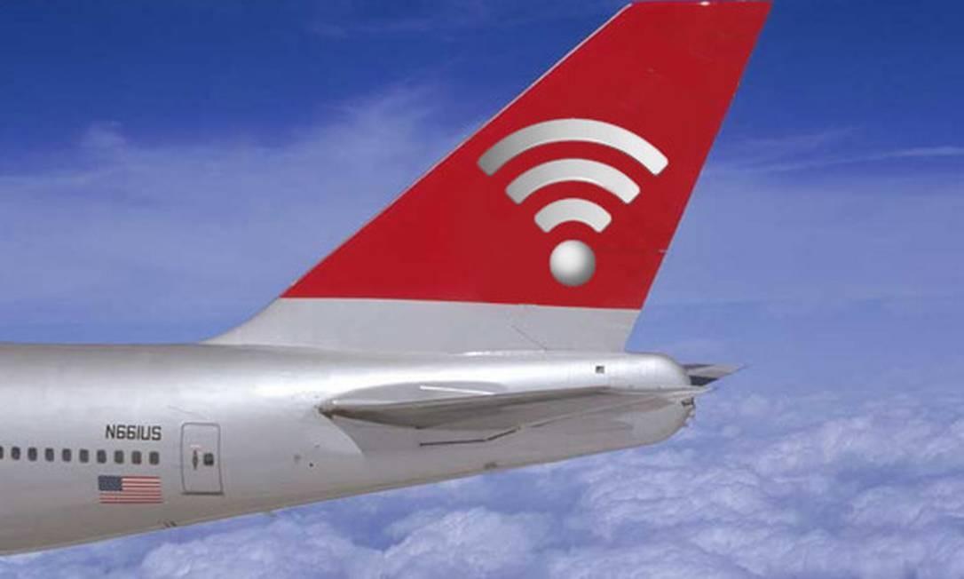 Wi-Fi em voos cai no gosto dos viajantes Foto: Reprodução