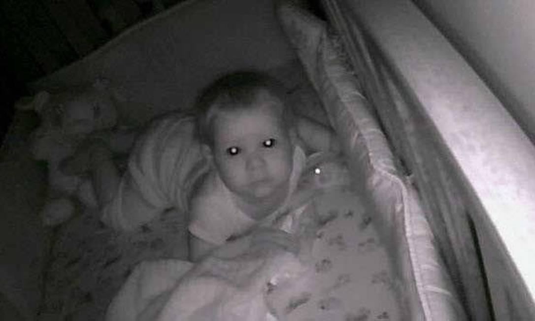 Emmy, de 10 meses, vítima de um susto ao ter sua babá eletrônica Foscam IP hackeada Foto: Reprodução / FOX19