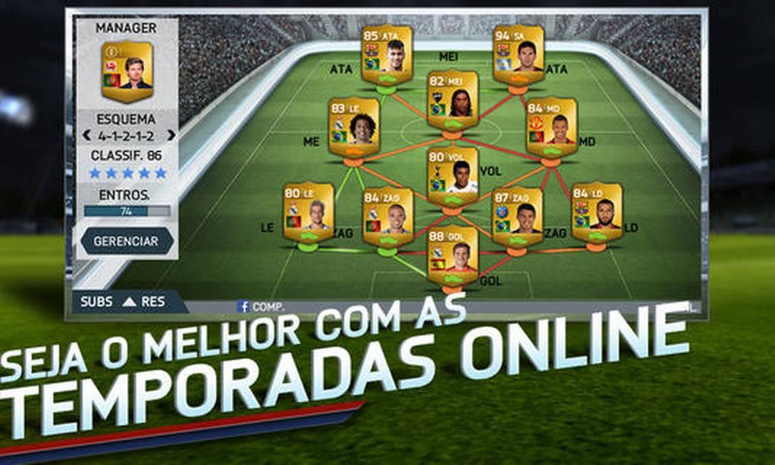 Tela do FIFA 14, da Electronic Arts Foto: Reprodução