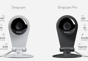 Duas versões da câmera doméstica Dropcam Foto: Divulgação