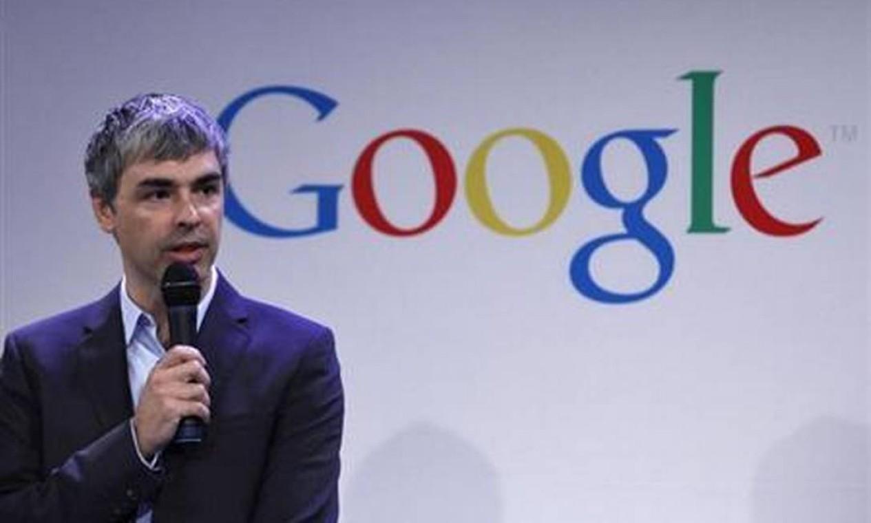 Larry Page, do Google, adicionou US$ 26,6 bilhões este ano depois que a empresa sediada na Califórnia registrou lucro recorde no ano passado Foto: Eduardo Munoz / Reuters