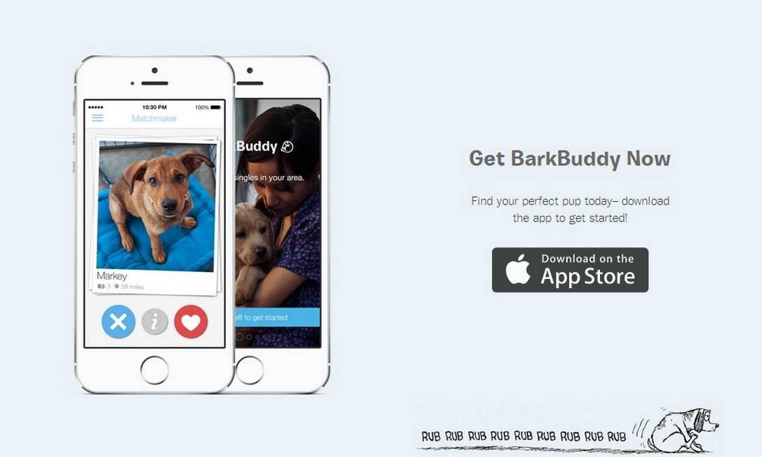 Aplicativo BarkBuddy, disponível na App Store para americanos e canadenses, incentiva adoção de cães Foto: Reprodução
