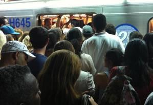 Estação República do metrô de São Paulo em horário de pico Foto: Walter Ietto/ arquivo pessoal