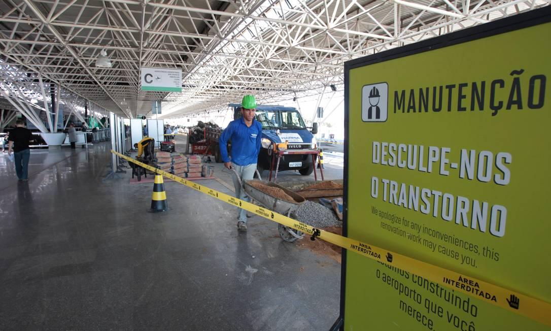 Obras no Aeroporto Internacional de Brasília Juscelino Kubitschek Foto: Givaldo Barbosa / Agência O Globo/05/06/2014