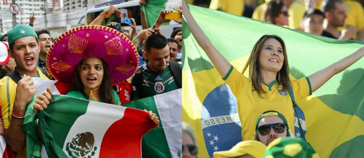 México e Brasil também disputam fora dos gramados Foto: Agência O Globo