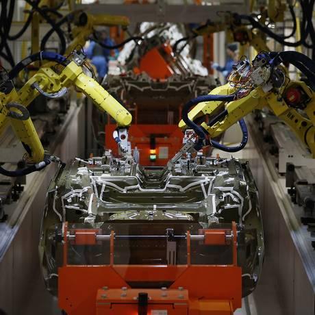 Fábrica da Chrysler em Sterling Heights, Michigan Foto: Jeff Kowalsky / Bloomberg