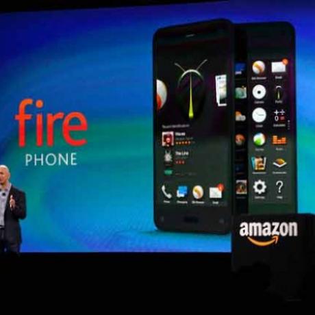 Jeff Bezos, CEO da Amazon, apresentando o Fire Phone Foto: Reprodução