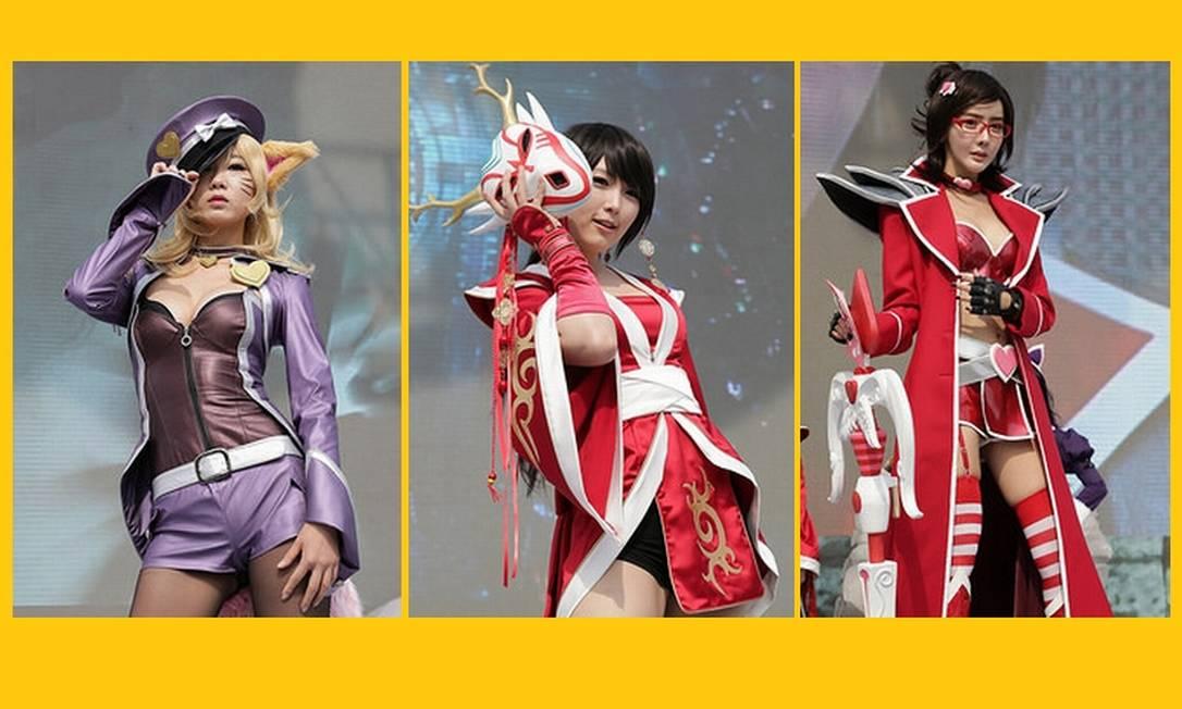 Detalhe das lindas meninas do cosplay pré-final Foto: Divulgação
