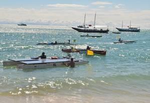 Barcos leves dotados de coletores solares realizam treinamentos em Búzios (RJ) Foto: Divulgação