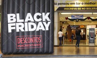 No Plaza Shopping Niterói, decoração especial para atrair consumidores durante a promoção Foto: Pablo Jacob / Agência O Globo
