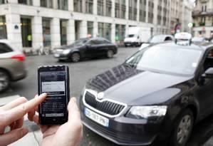 O controverso app Uber: serviço tem gerado polêmica por crimes de motoristas Foto: ELIOT BLONDET / AFP