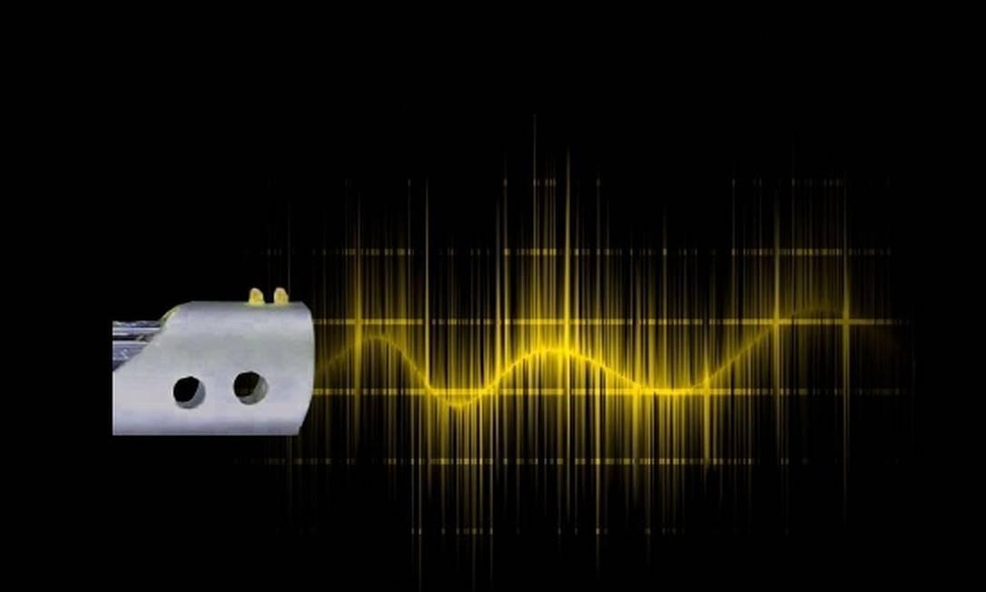 O revólver emite um feixe de micro-ondas Foto: Reprodução