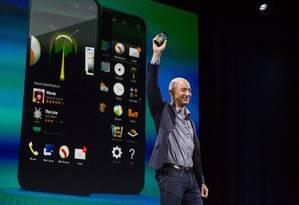 Jeff Bezos, CEO da Amazon Foto: Mike Kane / Bloomberg