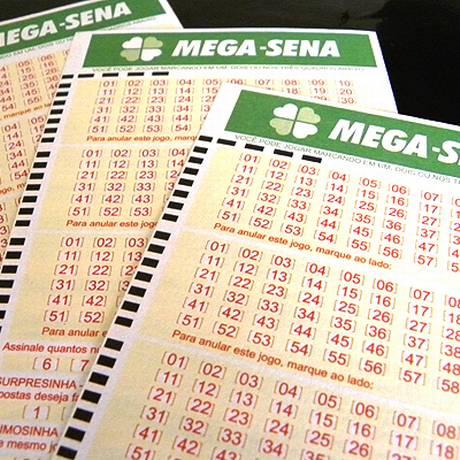 Cartela para aposta na Mega-Sena Foto: Divulgação