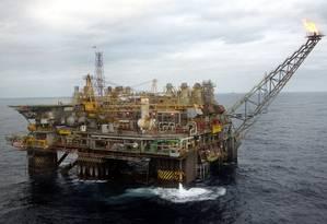 Plataforma da Petrobras em foto de arquivo Foto: PEDRO LOBO / BLOOMBERG NEWS