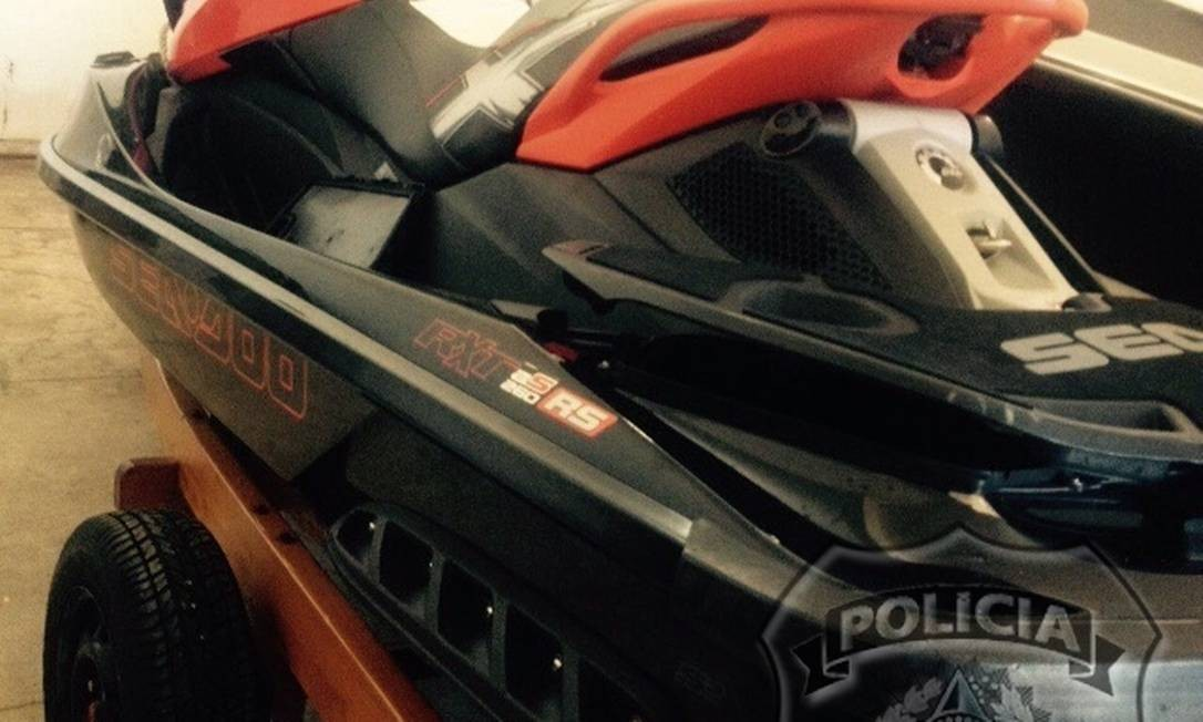 Jetski apreendido pela Polícia Federal na casa do empresário Eike Batista em Angra dos Reis Foto: Divulgação Polícia Federal