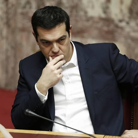 Alexis Tsipras, primeiro-ministro grego Foto: Yannis Behrakis / Bloomberg