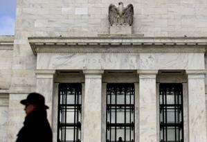 Prédio do Federal Reserve em Washington, D.C. Foto: Andrew Harrer / Bloomberg