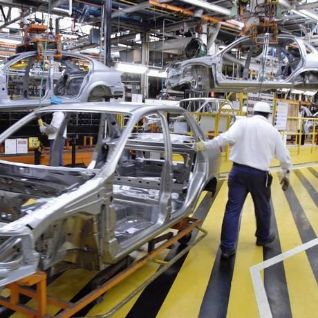 Fábrica da GM em São Caetano do Sul Foto: Paulo Fridman / Bloomberg News