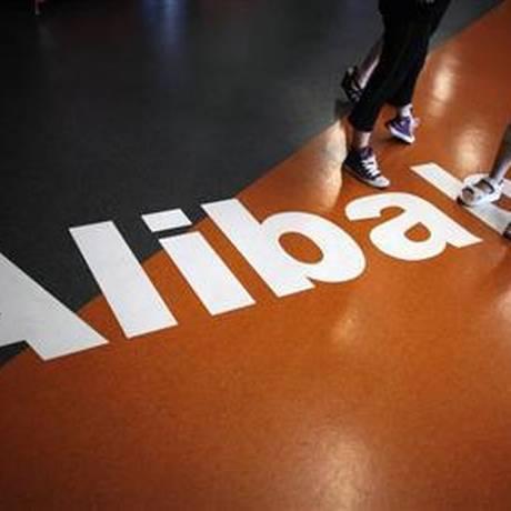 Logomarca da Alibaba Foto: Carlos Barria / Reuters