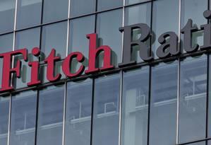 Sede da Fitch Ratings em Londres Foto: Jason Alden / Bloomberg