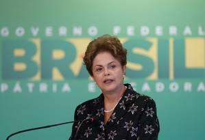 A presidente Dilma Rousseff Foto: Eraldo Peres / AP/19-03-2015