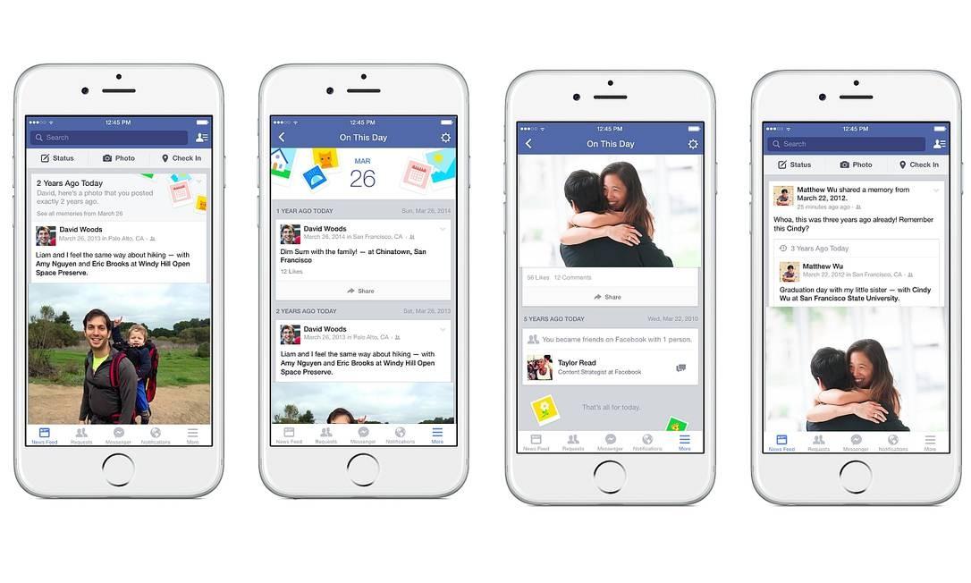 Exemplos de telas de iPhone com novidade já estampada Foto: Divulgação