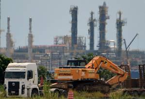 A empreiteira Galvão Engenharia está envolvida nas obras do Complexo Petroquímico do Rio de Janeiro (Comperj) Foto: VANDERLEI ALMEIDA / AFP