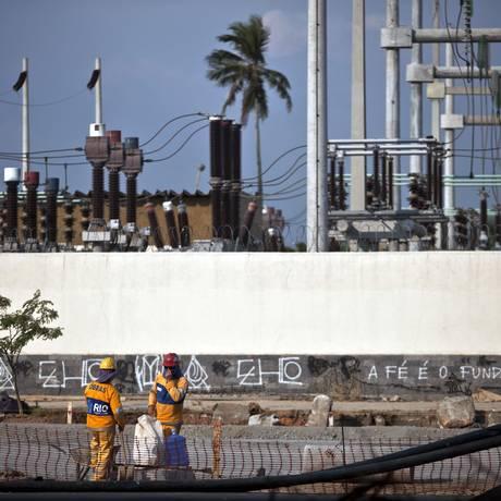 Subestação da Light no Rio Foto: Dado Galdieri / Bloomberg News