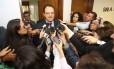 Ministro do Planejamento, Nelson Barbosa deixa audiência pública no Senado sobre as medidas provisórias 664 e 665, que alteram a forma de concessão de benefícios trabalhistas e previdenciários.