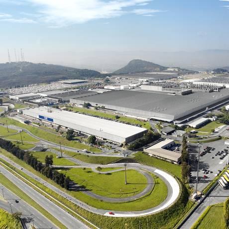 Vista aérea da fábrica da Fiat em Betim Foto: Divulgação