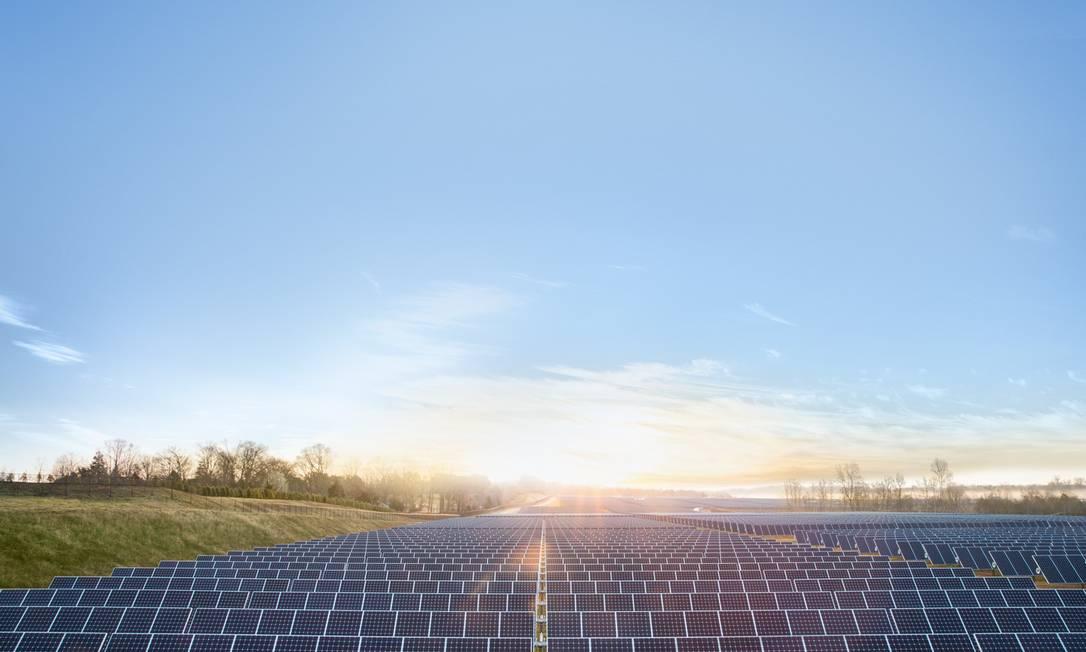 Uma das usinas solares da Apple Foto: Divulgação