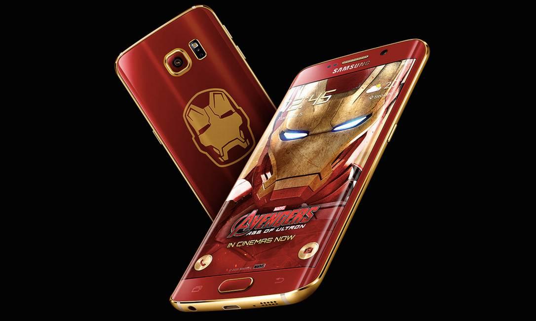 Galaxy S6 Edge: edição especial Homem de Ferro Foto: Divulgação