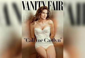 Caitlyn faz sucesso com seu visual na capa da revista americana 'Vanity Fair' Foto: Reprodução