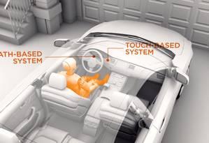 O sistema DADSS usa dois métodos para detectar altos níveis de álcool no sangue Foto: Reprodução / YouTube