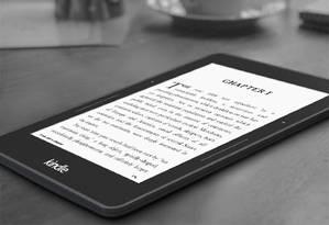 Novo Kindle Voyage: top de linha da Amazon Foto: Divulgação