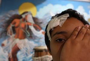 Kayllane Campos, menina que foi vítima de intôlerancia religiosa no Rio: abaixo-assinado para campanha sobre o tema Foto: Guilherme Pinto / Agência O Globo