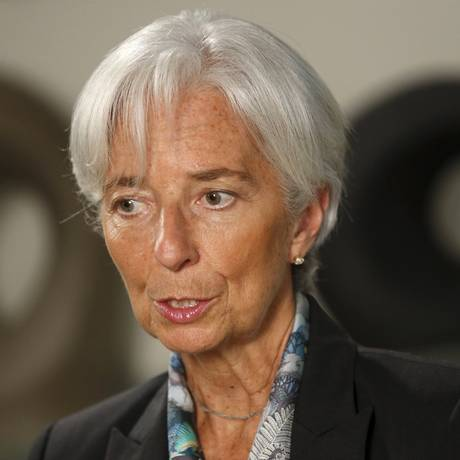 Christine Lagarde, diretora-geral do FMI Foto: JONATHAN ERNST / REUTERS