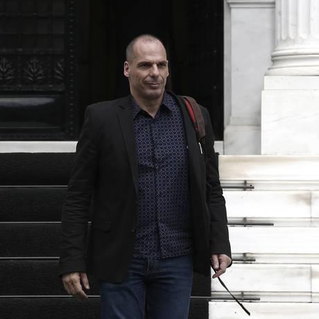 Yanis Varoufakis, ministro das Finanças grego Foto: Kostas Tsironis / Bloomberg